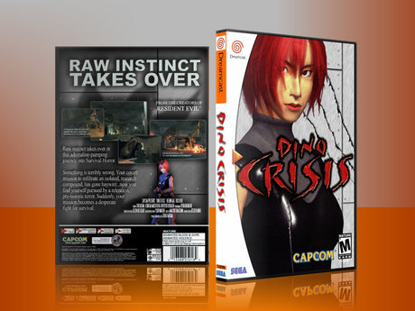 Sega Dreamcast Dc REPLACEMENT GAME CASE for Dinocrisis 4