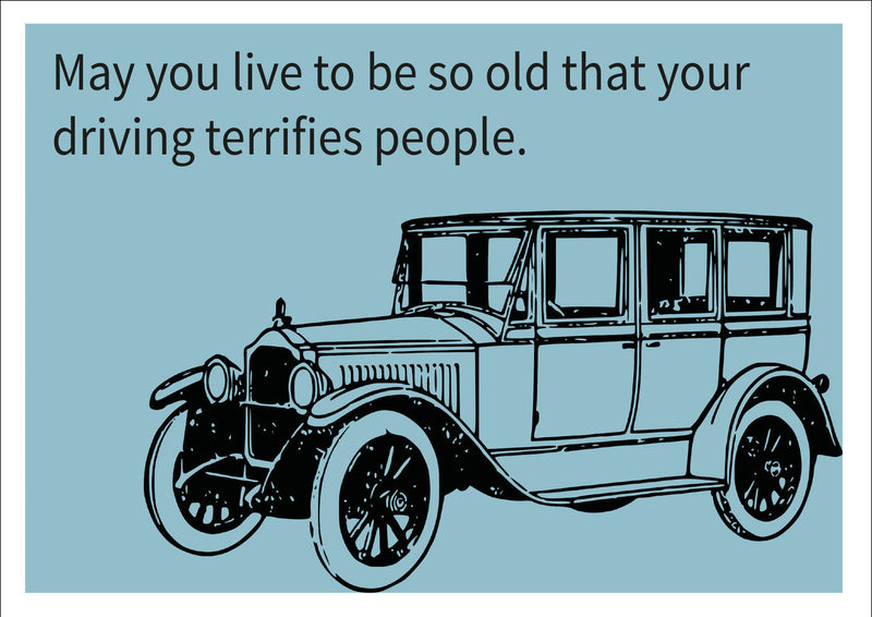 Driving Terrifies People INSPIRED Adult Personalised Birthday Card Birthday Card