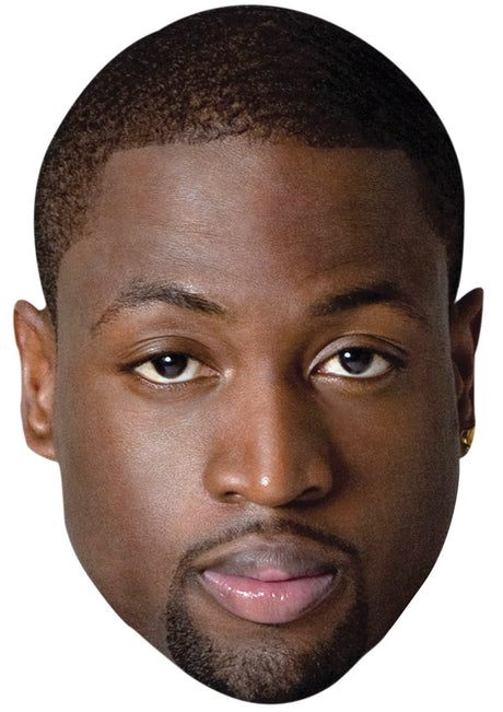 DWAYNE WADE JB - Basketball Star Fancy Dress Cardboard Celebrity Party Stag Birthday Idea Fancy Dress Face mask