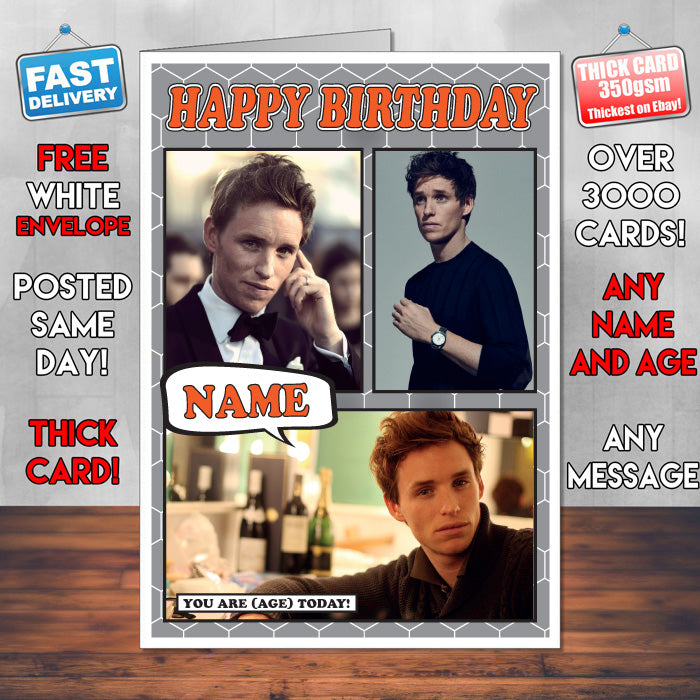 Eddie Redmayne Personalised Celebrity Birthday Card New 2017