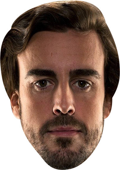 FERNANDO ALONSO Celebrity Face Mask FANCY DRESS HEN BIRTHDAY PARTY FUN STAG DO HEN