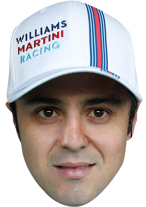 FELIPE MASSA CAP JB - Formula 1 Driver Fancy Dress Cardboard Celebrity Party mask
