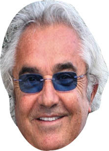 Flavio Briatore FORMULA 1 Celebrity Face Mask FANCY DRESS HEN BIRTHDAY PARTY FUN STAG DO HEN