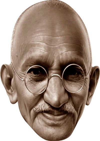 Gandhi Celebrity Face Mask FANCY DRESS HEN BIRTHDAY PARTY FUN STAG DO HEN Party Mask