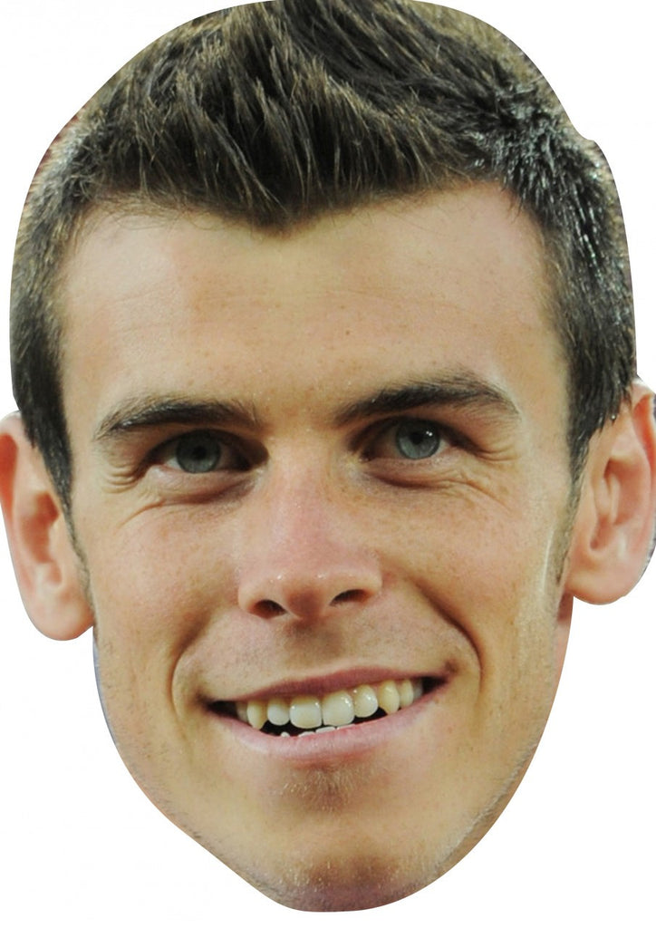 Gareth Bale FOOTBALL 2018 Celebrity Face Mask FANCY DRESS HEN BIRTHDAY PARTY FUN STAG DO HEN