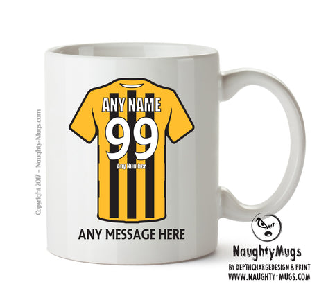 Gloucester City INSPIRED Football Team Mug Personalised Birthday Age And Name