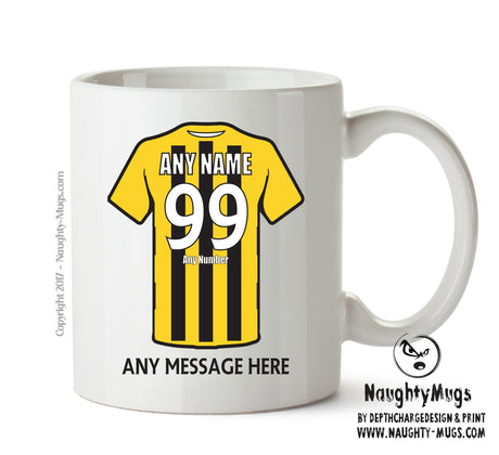 Harrogate Town INSPIRED Football Team Mug Personalised Birthday Age And Name