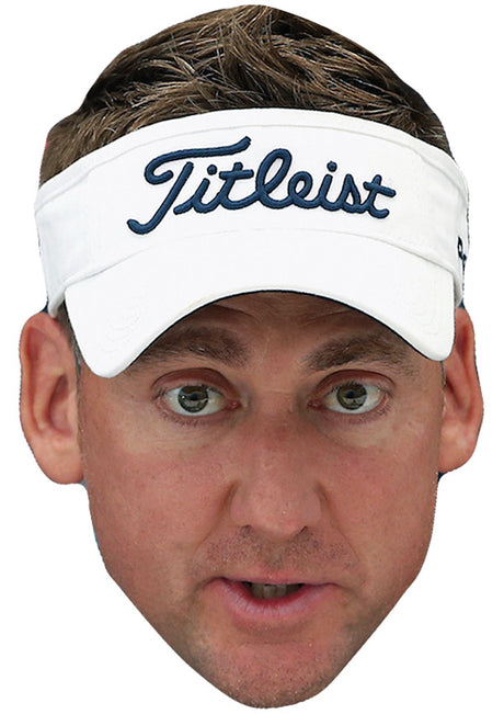 IAN POULTER JB - Golf Fancy Dress Cardboard Celebrity Party Stag Birthday Idea Fancy Dress Face mask