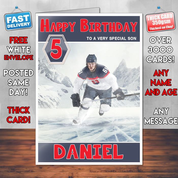 Ice Hockey Theme Inspired Kids Inspired Adult Personalised Sports