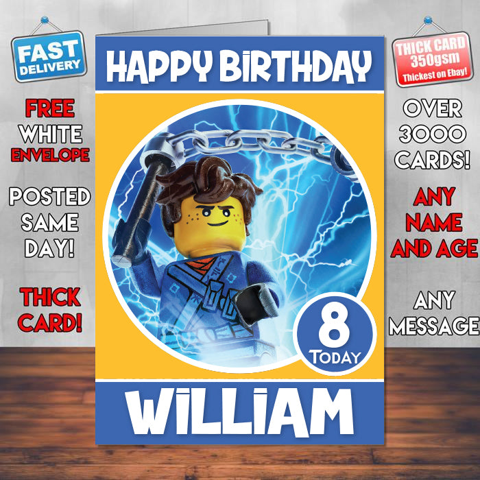 Jay Be The Lego Ninjago Theme Style Personalised Kids Inspired Movie