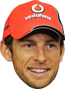 Jensen Button 2013 FORMULA 1 Celebrity Face Mask FANCY DRESS HEN BIRTHDAY PARTY FUN STAG DO HEN