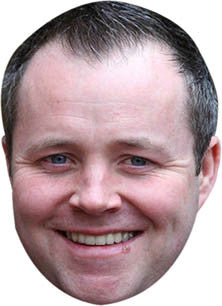 John Higgins SNOOKER Celebrity Face Mask FANCY DRESS HEN BIRTHDAY PARTY FUN STAG DO HEN