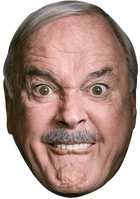 JOHN CLEESE SMILE JB - Funny Comedian Fancy Dress Cardboard Celebrity Party mask