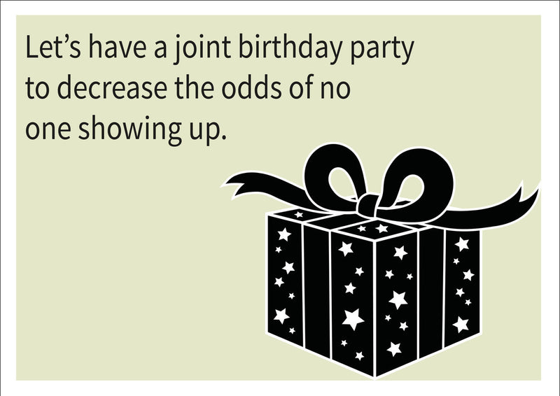 Joint Party INSPIRED Adult Personalised Birthday Card Birthday Card