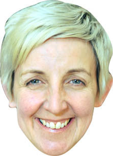 Julie Hesmondhalgh AKA Hayley TV STAR Celebrity Face Mask FANCY DRESS HEN BIRTHDAY PARTY FUN STAG DO HEN