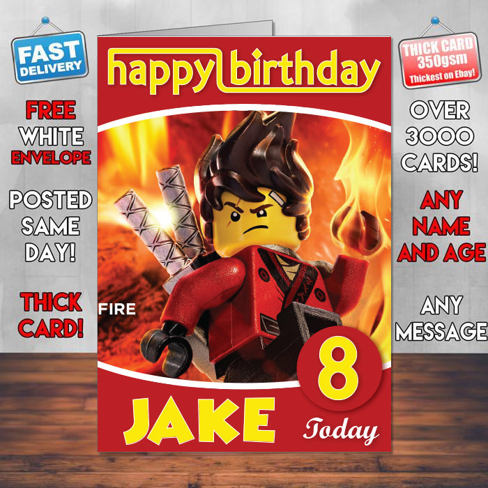 Kai Be Fire The Lego Ninjago Movie 2017 Theme Style Personalised