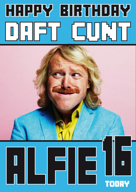 Personalised Keith Lemon Adult INSPIRED Adult RUDE Birthday Card