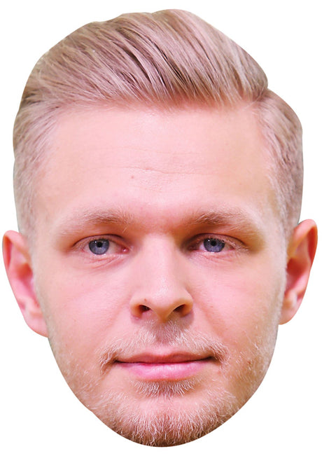 KEVIN MAGNUSSEN JB - Formula 1 Driver Fancy Dress Cardboard Celebrity Party Stag Birthday Idea Fancy Dress Face mask