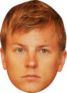 Kimi Raikkonen FORMULA 1 Celebrity Face Mask FANCY DRESS HEN BIRTHDAY PARTY FUN STAG DO HEN