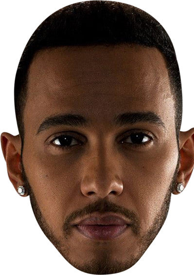 LEWIS HAMILTON Celebrity Face Mask FANCY DRESS HEN BIRTHDAY PARTY FUN STAG DO HEN