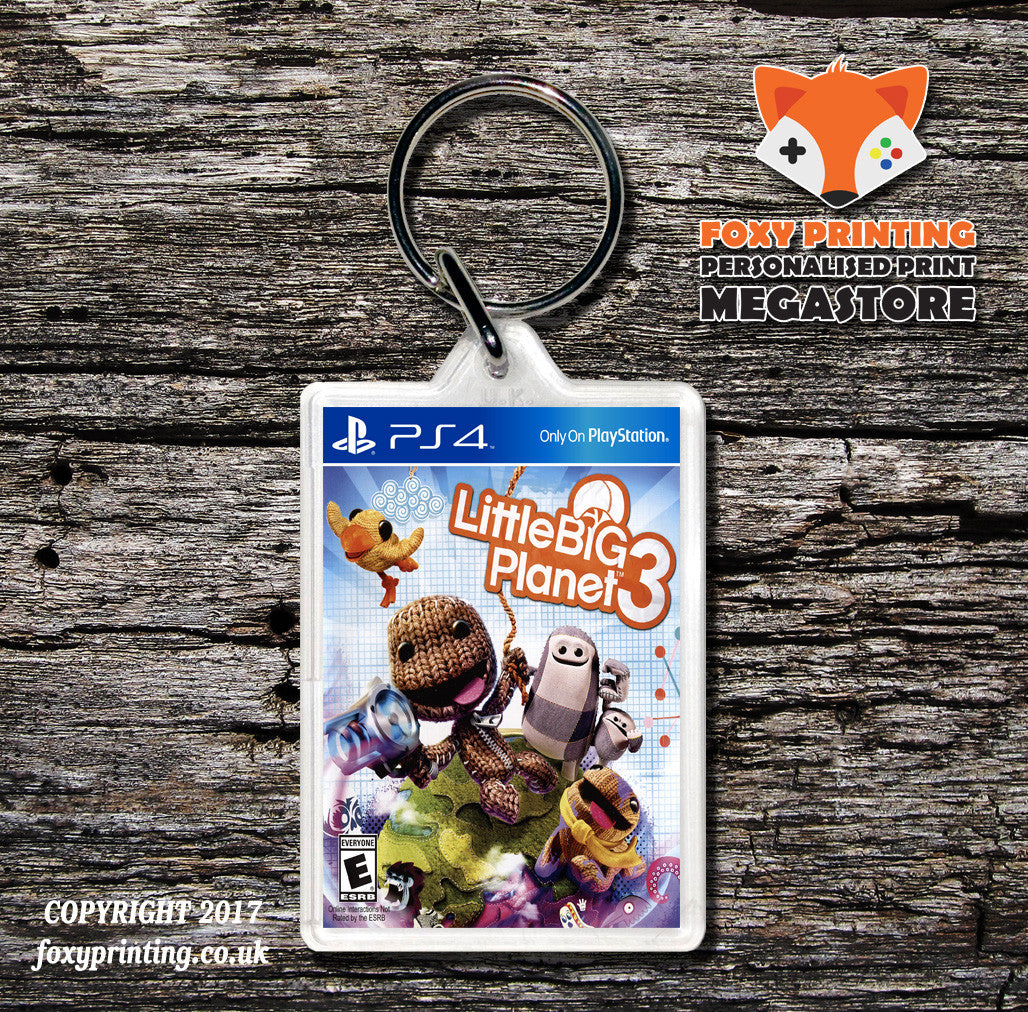 Little Big Planet 3 Ps4 Game Inspired Retro Gaming Keyring Foxy