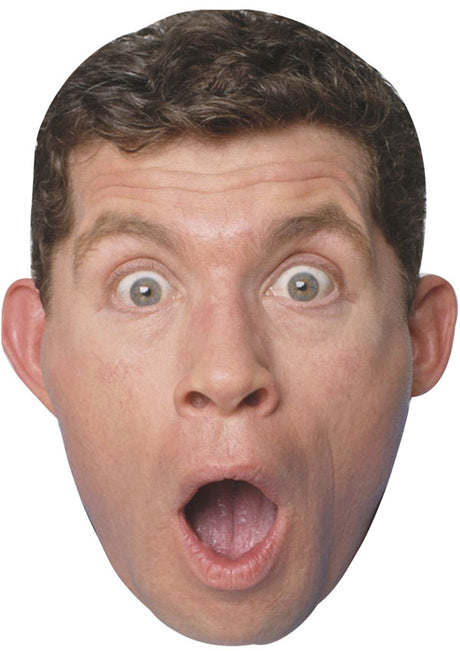 LEE EVANS JB - Funny Comedian Fancy Dress Cardboard Celebrity Party mask
