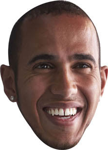 Lewis Hamilton 2013 FORMULA 1 Celebrity Face Mask FANCY DRESS HEN BIRTHDAY PARTY FUN STAG DO HEN