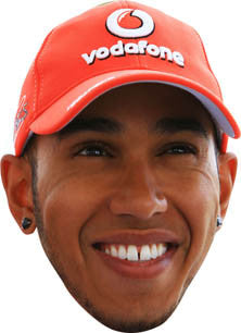Lewis Hamilton 2013b FORMULA 1 Celebrity Face Mask FANCY DRESS HEN BIRTHDAY PARTY FUN STAG DO HEN