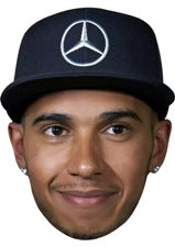 LEWIS HAMILTON CAP 01 JB - Formula 1 Driver Fancy Dress Cardboard Celebrity Party Stag Birthday Idea Fancy Dress Face mask