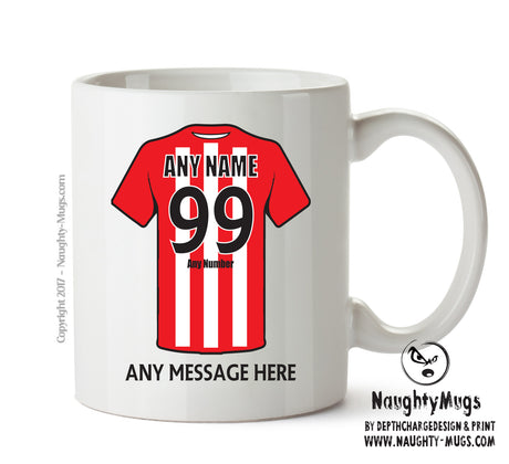 Lincoln City INSPIRED Football Team Mug Personalised Birthday Age And Name