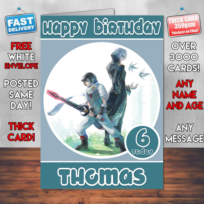 Lost Sphear Inspired Style Game Kids Birthday Card SA