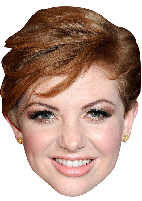 LUCY DIXON JB - Hollyoaks Fancy Dress Cardboard Celebrity Party mask