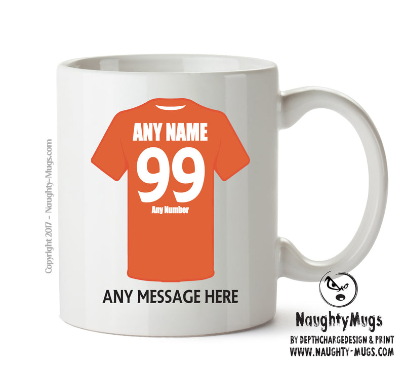 Luton Town INSPIRED Football Team Mug Personalised Birthday Age And Name
