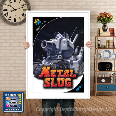 METAL SLUG NEO GEO GAME INSPIRED THEME Retro Gaming Poster A4 A3 A2 Or A1