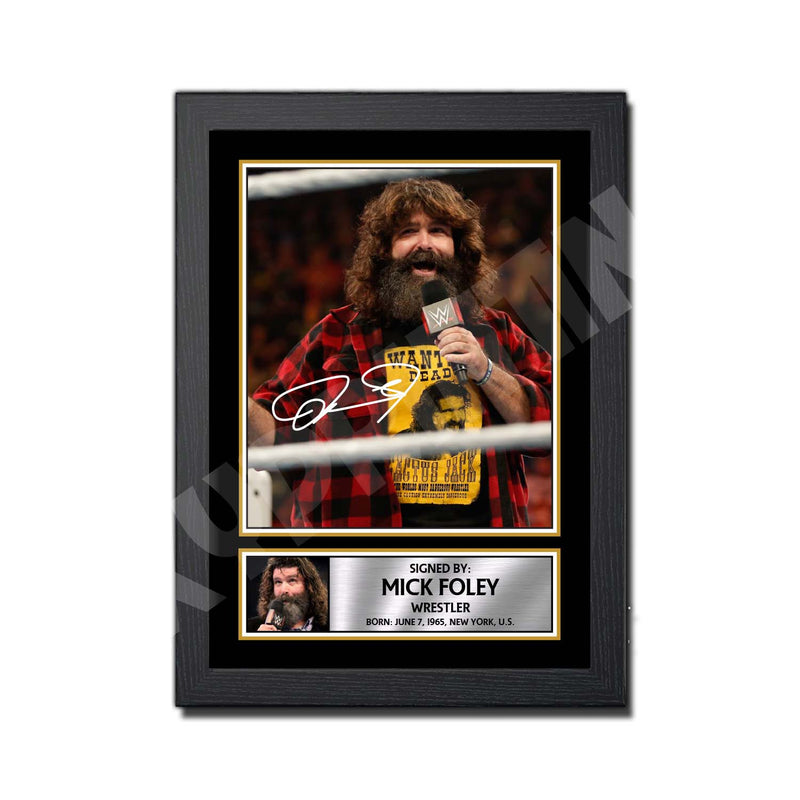 MICK FOLEY Limited Edition MMA Wrestler Signed Print - MMA Wrestling