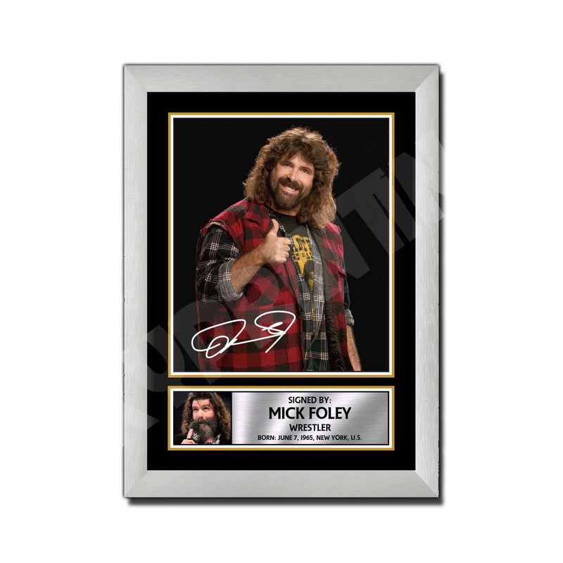 MICK FOLEY 2 Limited Edition MMA Wrestler Signed Print - MMA Wrestling