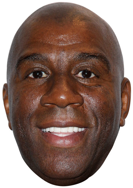 MAGIC JOHNSON JB - Basketball Star Fancy Dress Cardboard Celebrity Party Stag Birthday Idea Fancy Dress Face mask