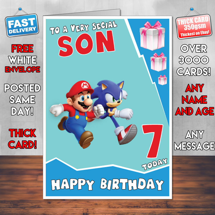 Mario And Sonic Super Mario Inspired Theme Personalised Kids
