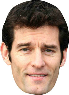 Mark Webber FORMULA 1 Celebrity Face Mask FANCY DRESS HEN BIRTHDAY PARTY FUN STAG DO HEN