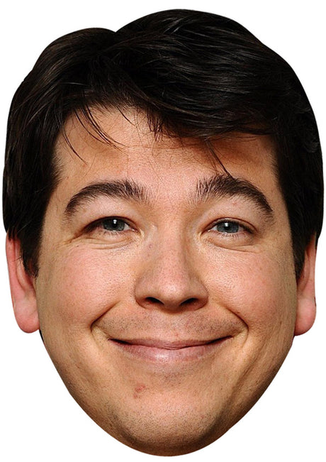 MICHAEL MCINTYRE JB - Funny Comedian Fancy Dress Cardboard Celebrity Party mask