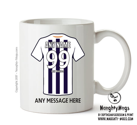 Milwall INSPIRED Football Team Mug Personalised Birthday Age And Name