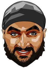 Monty Panesar Cartoon Face Mask