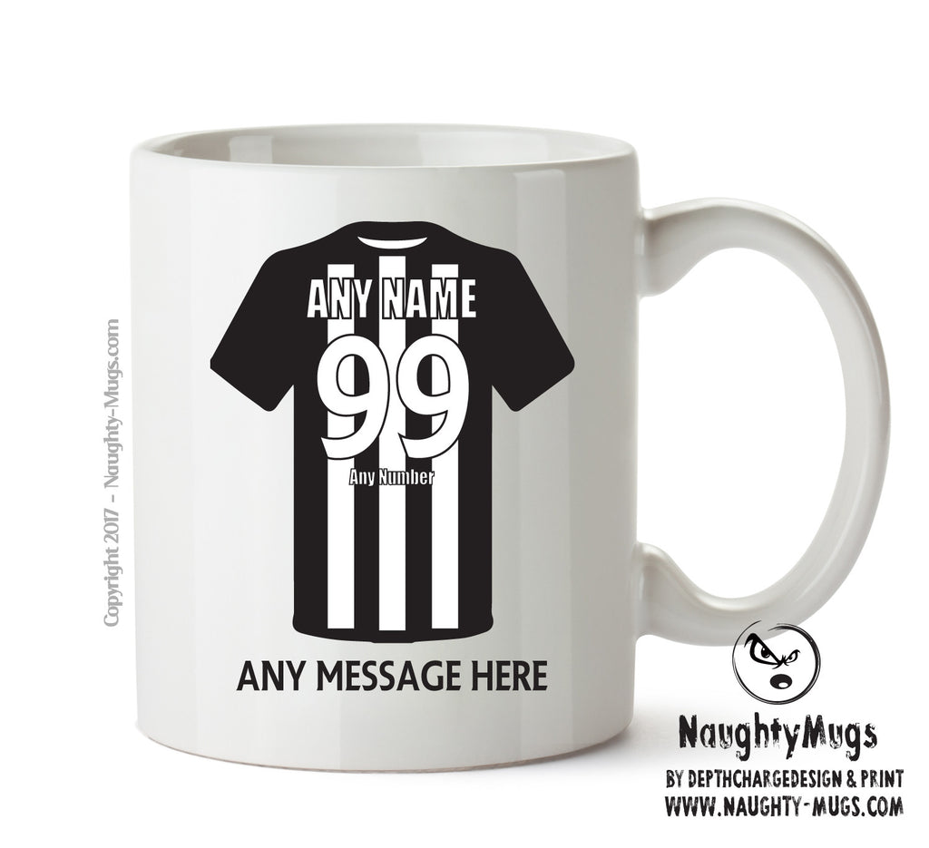 Newcastle United Football Team Mug - Personalised Birthday Age and Name