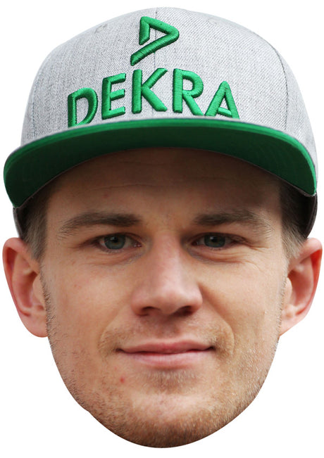 NICO HULKENBERG CAP JB - Formula 1 Driver Fancy Dress Cardboard Celebrity Party Stag Birthday Idea Fancy Dress Face mask