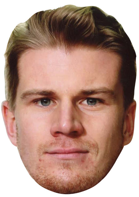 NICO HULKENBERG JB - Formula 1 Driver Fancy Dress Cardboard Celebrity Party Stag Birthday Idea Fancy Dress Face mask