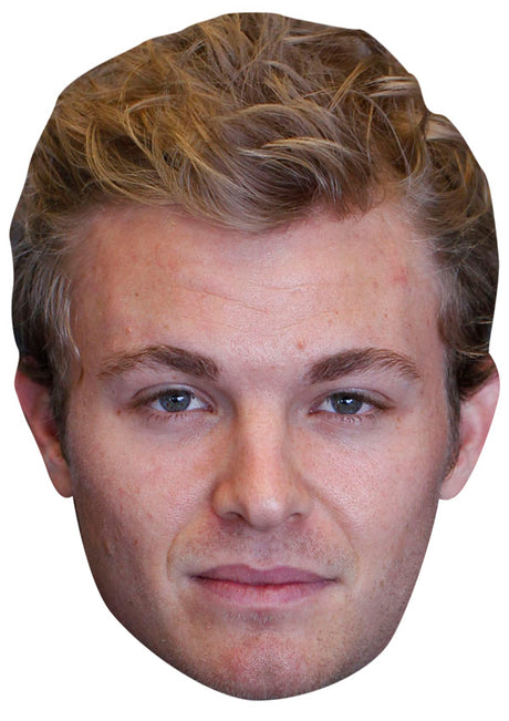 NICO ROSBERG JB - Formula 1 Driver Fancy Dress Cardboard Celebrity Party Stag Birthday Idea Fancy Dress Face mask