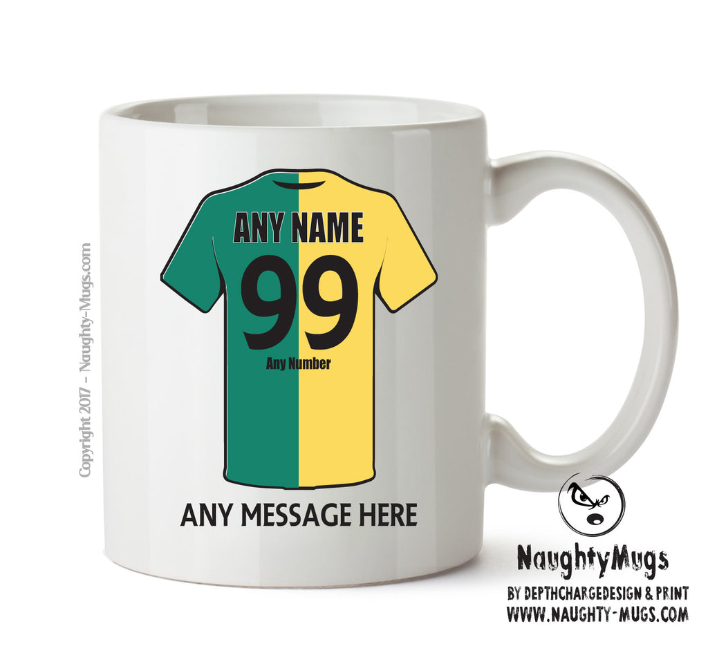 Norwich City Football Team Mug - Personalised Birthday Age and Name