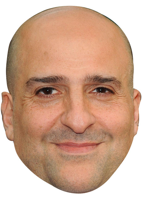 OMID DJALILI JB - Funny Comedian Fancy Dress Cardboard Celebrity Party mask