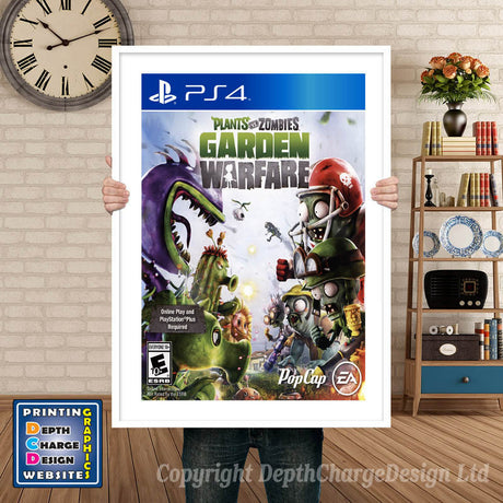 PLANTS VS ZOMBIES GARDEN WARFARE PS4 GAME INSPIRED THEME PS4 GAME INSPIRED THEME Retro Gaming Poster A4 A3 A2 Or A1