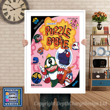 PUZZLE BOBBLE NEO GEO GAME INSPIRED THEME Retro Gaming Poster A4 A3 A2 Or A1